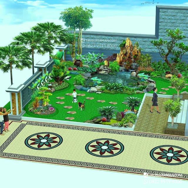 konsep desain taman rumah