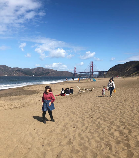 Vue idéale sur le Golden Gate Bridge à Baker Beach