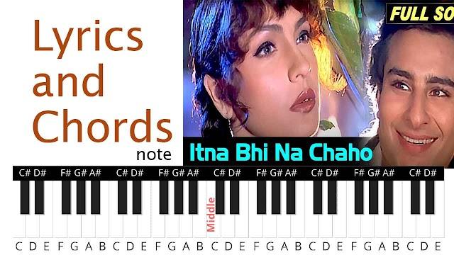 Itna Bhi Na Chaho Mujhe Song Lyrics and Chords note
