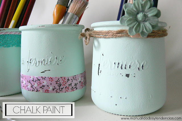 Botes decorados con chalk paint de estilo shaby chic