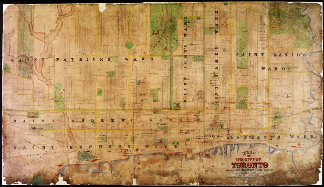 1862 Plan of the City of Toronto by HJ Browne
