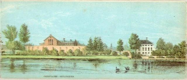 Links gevangenis Wolvenplein rechts villa Wolvenplein 50-80