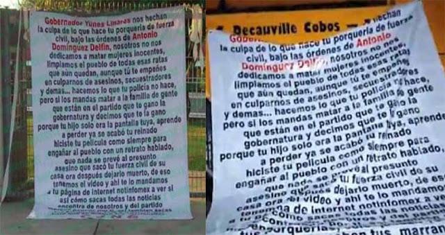 """El Cártel Jalisco se deslinda de la muerte de la hija de diputada de Veracruz, culpan a Yunes, dicen que """"aprende a perder ya se acabo tu reinado"""""""
