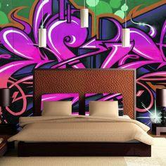 graffiti tapet ungdomsrum fototapet ungdomstapet