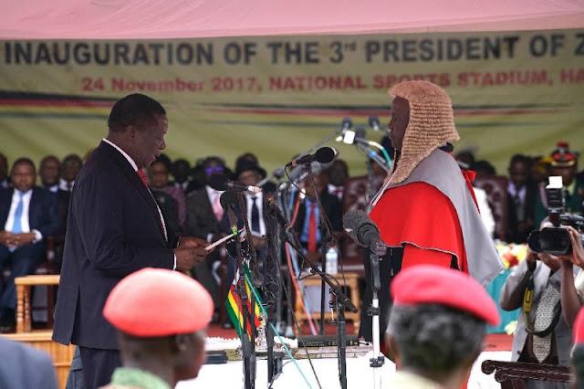 Mnangagwa took the oath as new Zimbabwe president - See Photos