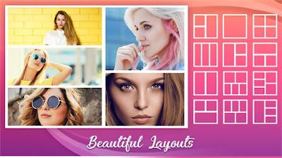 Foto Collage Editor contiene formularios, etiquetas, diseño reticular, plano, efectos de foto