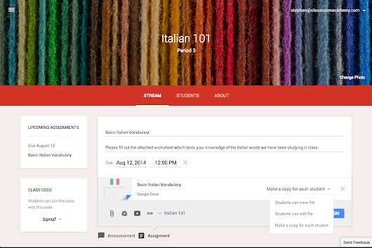 More teaching, Less tech-ing: Google Classroom Launches Today