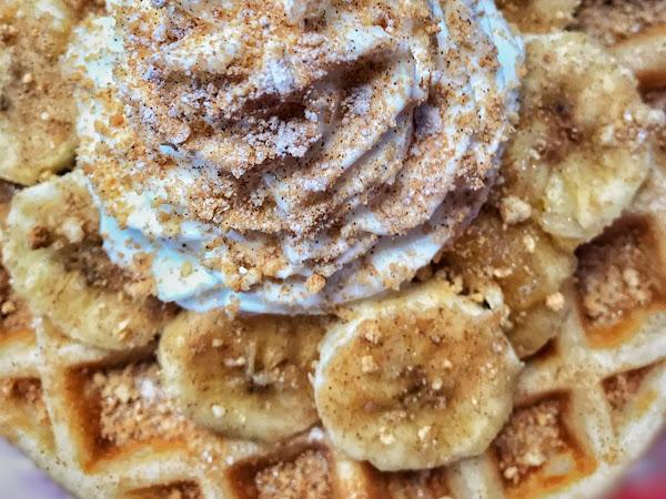 The best waffle I ever waffled, courtesy No Greenz
