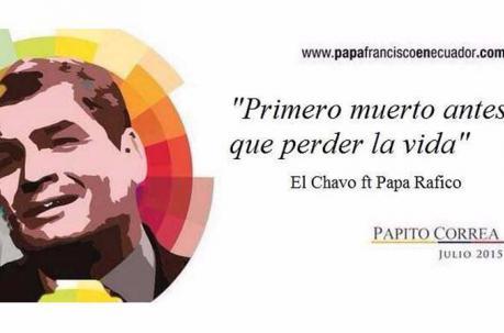 bromas de la visita del papa Francisco en Ecuador