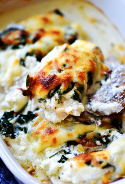 CHEESY CHICKEN SPINACH BAKE