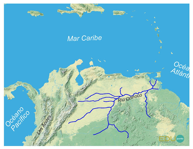 hidrografia, orinoco, america del sur, sudamerica ,rio, cuenca