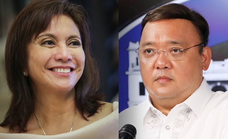 Presidential Spokesperson Harry Roque and Vice President Leni Robredo.