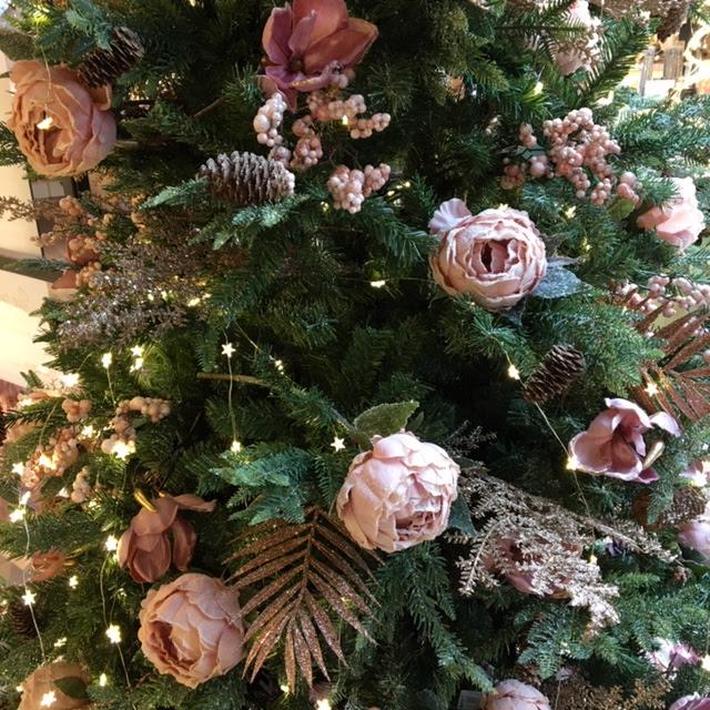 kerstboom in roze