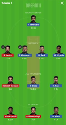 SS vs TK Dream 11 Team