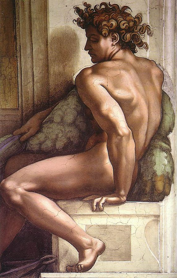 Ignudo by Michelangelo from the Sistine chapel