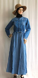 Gamis Jeans Wanita Modern GJ1096
