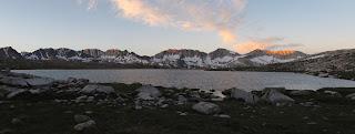 Das letzte Alpenglühn an der Glacier Divide