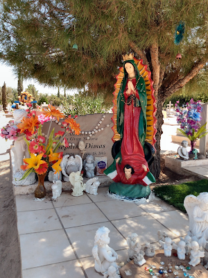 Virgen de Guadalupe at san albino graveside