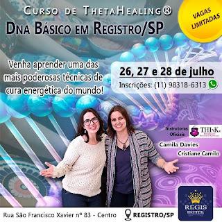 Curso ThetaHealing® DNA Básico nos dias 26, 27 e 28 de julho em Registro-SP