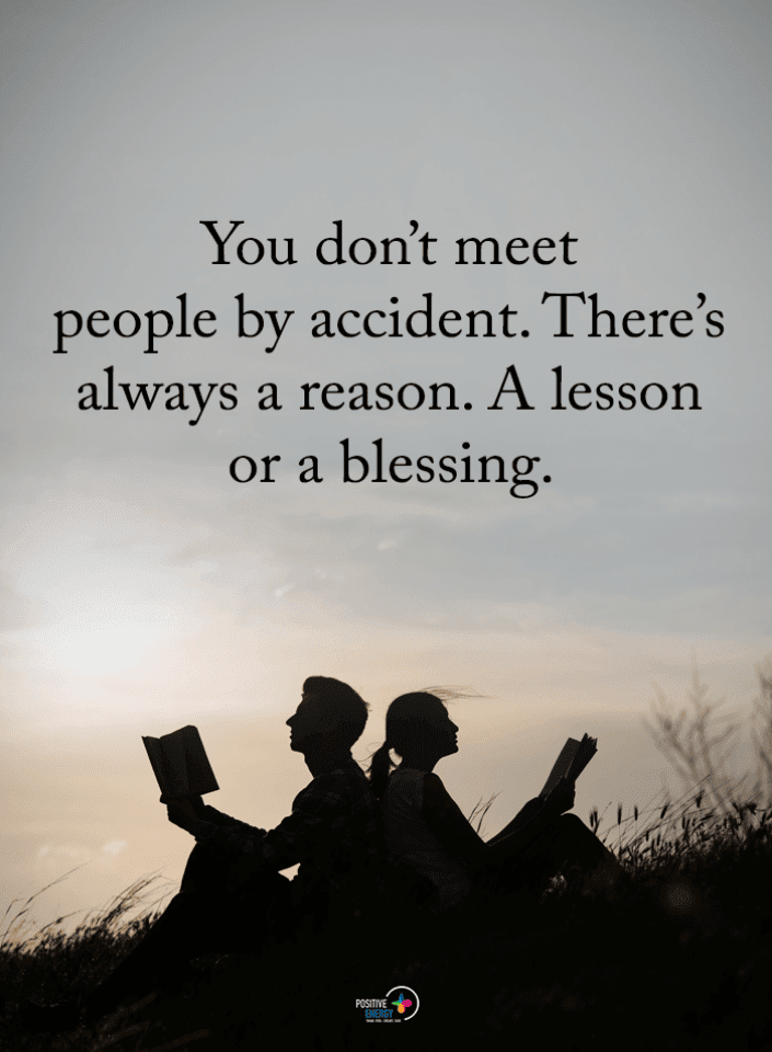 People Quotes, Meeting People Quotes, Lesson Or Blessing Quotes,