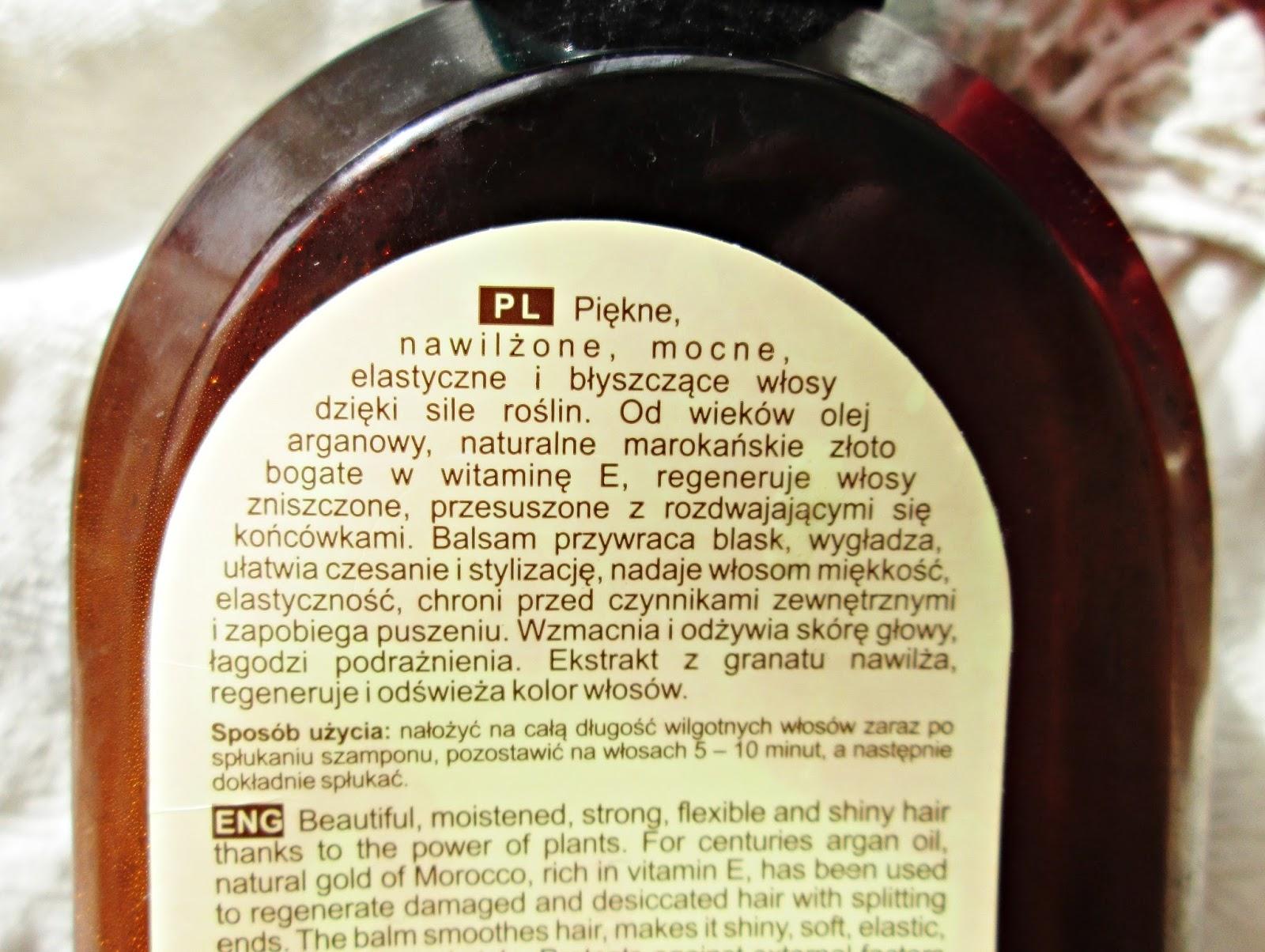 Green Pharmacy, Balsam do włosów suchych z olejem arganowym i granatem