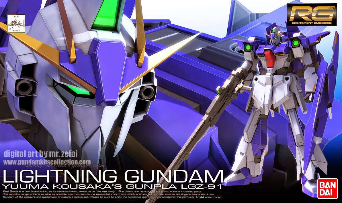 fanart rg 1144 lightning gundam gundam kits collection