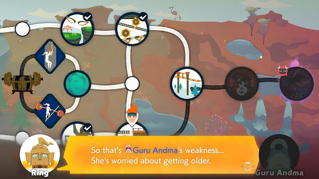 Ring Fit Adventure Guru Andma's weakness worried about getting older World 22 Land of Hades