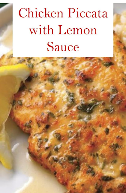 Chicken Piccata with Lemon Sauce #Chicken #Piccata #with #Lemon #Sauce #ChickenPiccatawithLemonSauce