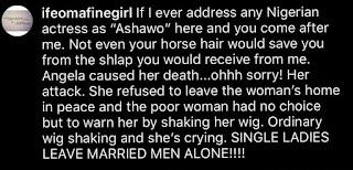 Angela Okorie's attack
