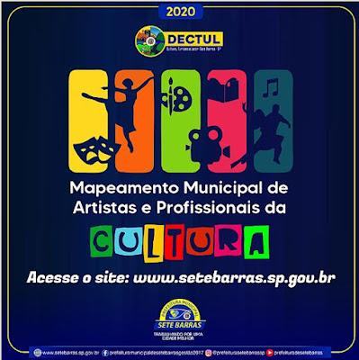 Prefeitura lança Mapeamento de Artistas e Profissionais da Cultura em Sete Barras