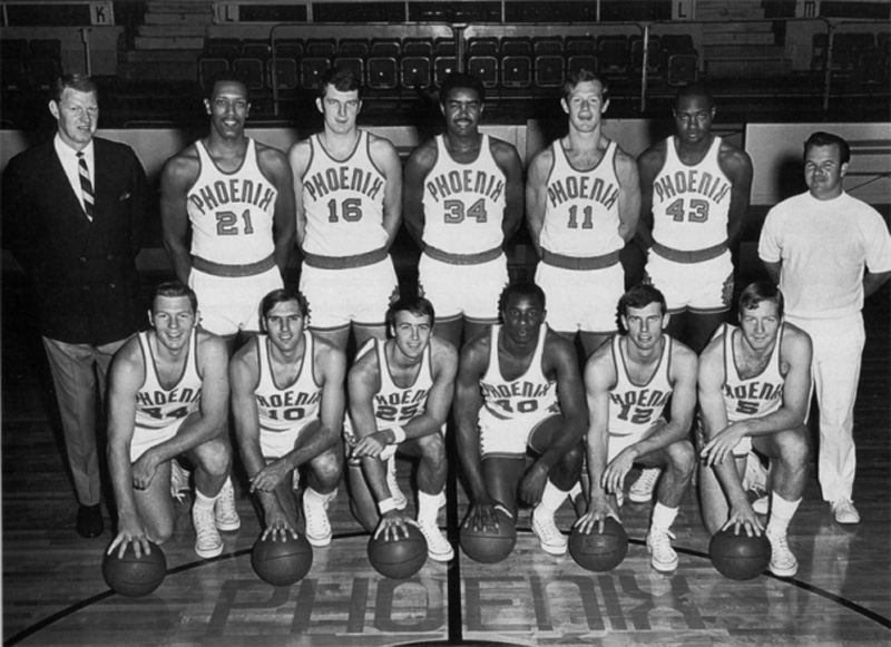 a brief basketball history of the phoenix suns The 1968 nba debut of the phoenix suns – then the valley's sole major sports   in college that the ncaa briefly outlawed dunks to temper his dominance.