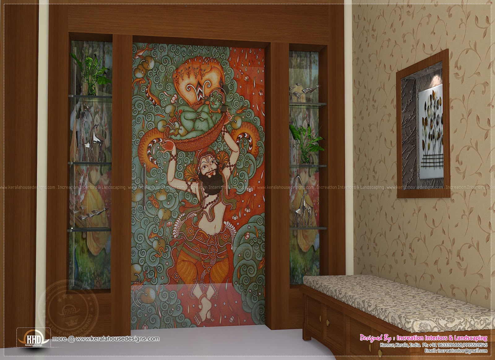 Foyer Plan Kerala : Interior designs by increation kannur kerala