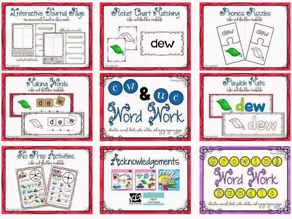 http://www.teacherspayteachers.com/Product/Phonics-Word-Work-ew-ue-1209106