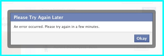 Facebook Down Site Issue