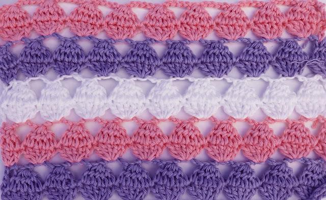 5 - Crochet Imagen Puntada calada colorida a crochet y ganchillo por Majovel Crochet