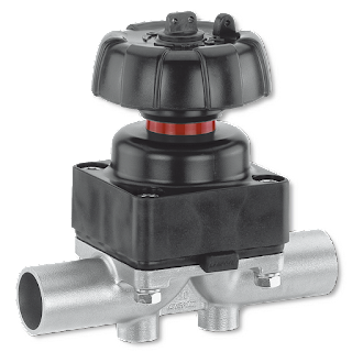 industrial diaphragm valve with handle metal body and metal diaphragm