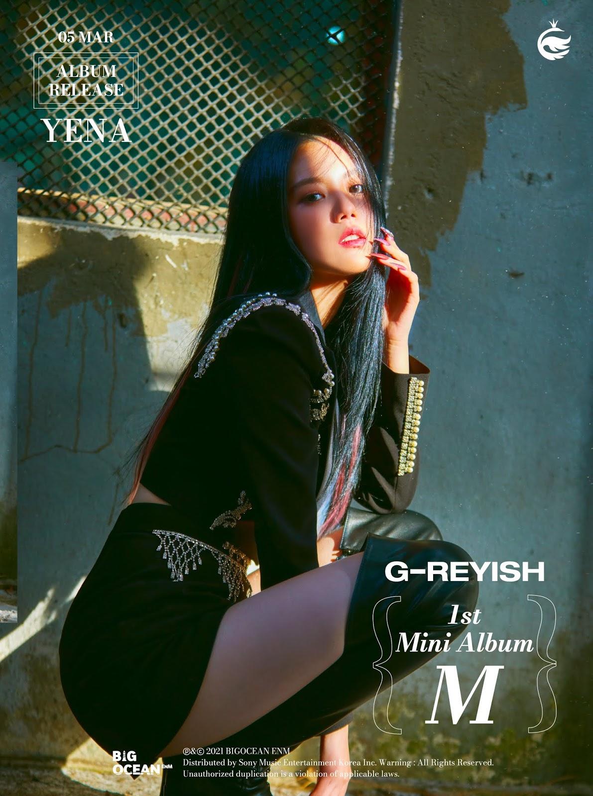 g-reyish m comeback yena