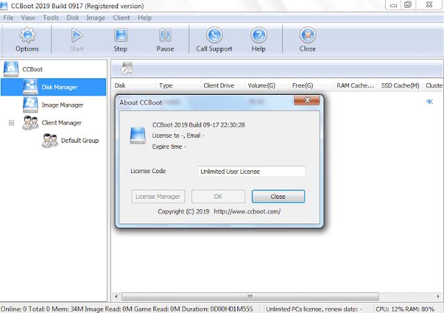 Screenshot CCBoot 2019 Build 0917 Full Version