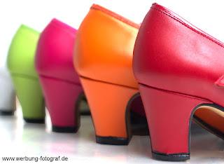 Flamencoschuhe in verschiedennen Farben