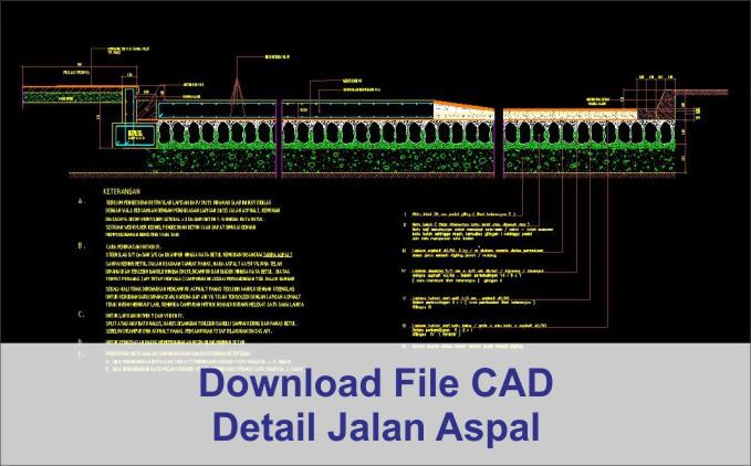 download Detail Jalan Aspal dwg AutoCad