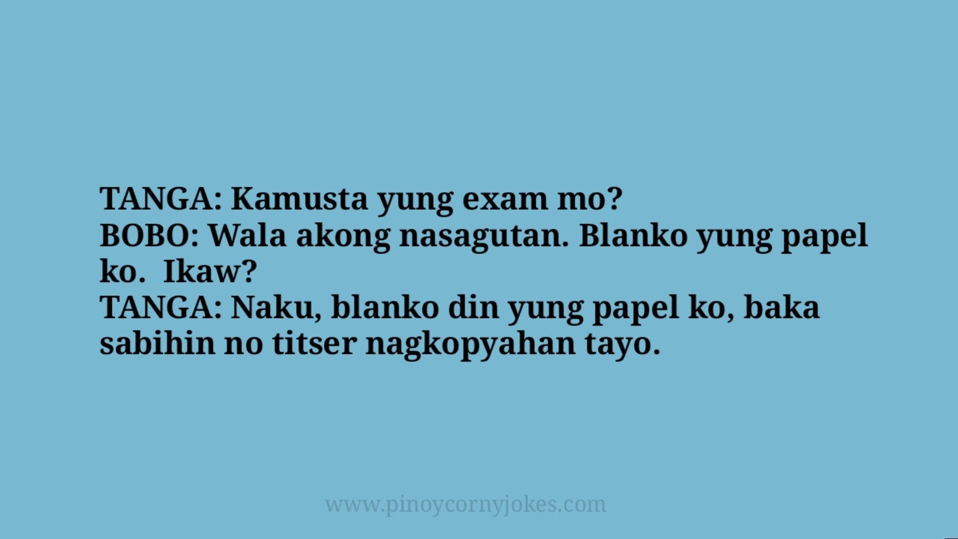 kamusta exam pinoy tanga jokes