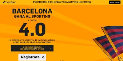 betfair Barcelona gana Sporting supercuota 4 Liga 17 febrero