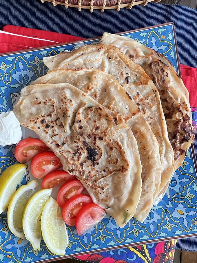 Kiymali Gozleme | Minced Meat Turkish Flatbread