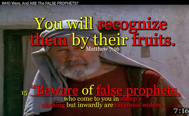 Matthew 7:15,16, false teachers will be recognised.