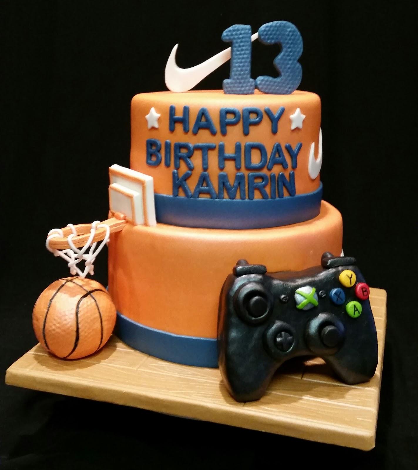 Mymonicakes Basketball Xbox And Nike Cake