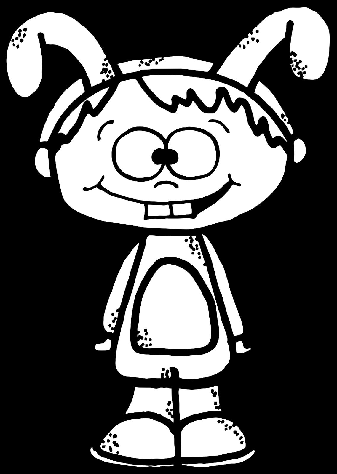 Worksheetjunkie Cute Kid Clipart Freebie Easter Time