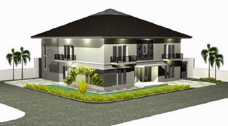 Desain Rumah Modern Persegi Dua Lantai | Desain Rumah ...
