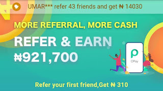 Refer your first friend and get ₦310