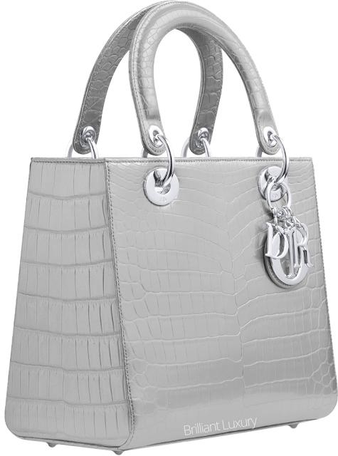 ♦Dior grey alligator Lady Dior bag #dior #bags #ladydior #brilliantluxury