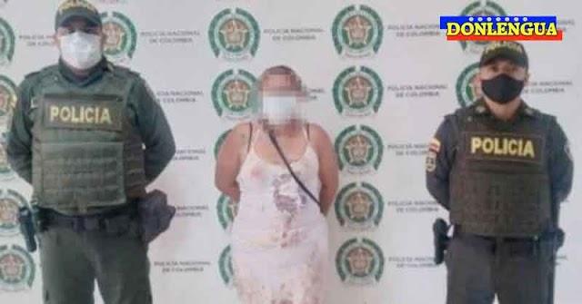 Mujer detenida en Colombia por haber matado a puñaladas a un Venezolano